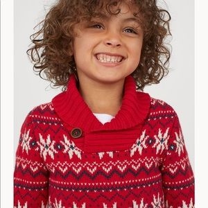 Blue H&M Holiday Sweater